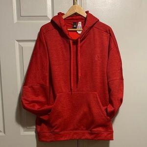 Adidas Men's 2XL Logo Hoodie - Red